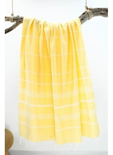 Bedinn 100 X 180 Cm Pamuk Ipliği Yıkanabilir Peşteplaj Peştemal Sarı